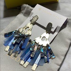 Kendra Scott NIB Silver and Blue Earrings